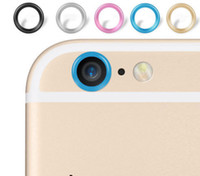 Wholesale Cameras Case For Sale - Metal lens Cap protector Ring Hoop Mobile phone Camera Protection Cover For iphone 6 6s 6Plus Plus Skin +With Retail Package Top Sale! 2016