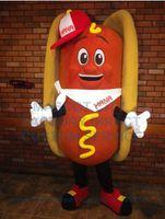 adult dog food - cool hot dog mascot costume adult size cartoon fast food theme mascotte carnival fancy dress kits
