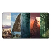 basic lands - MTG Beautiful Basic Lands Playmat MTG Playmat Board Games Playmat MTG Card Games Playmat Custom Playmat Print Big Mouspad