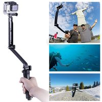 Wholesale 3 Way hand grip Selfie Stick camera Tripod mount Adjustable Monopod for GoPro Hero Camera Accessories