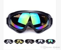 Wholesale 100 UVA UVB Protection Motorcycle Cycling Bicycle Bike Motocross Ski Snowboard Off road Goggles Sports POLYCARBONATE Eye Lens