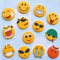 Wholesale Newest QQ Expression Emoji symbol Fridge Magnet Cute Cartoon Fashion Crystal Glass Fridge Magnets Funny Refrigerator Toy