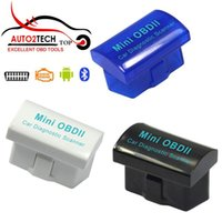 Wholesale New Mini OBDII Car Diagnostic Scanner for Android and Windows Support Multi language MINI ELM327 Blue Black White Color