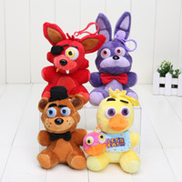 Wholesale 14cm FNAF in stock five nights at freddy fox bear bonnie toys plush pendants keychains dolls kids toys stuffed soft toys