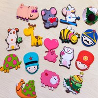 Wholesale 3D Cartoon Fridge Magnet Magnets Stickers colorful Animal sticker for home decoration Home Decor cheap