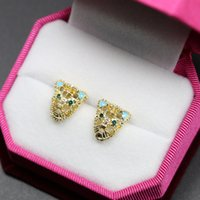 beaded chandeliers shop - Manufactor competitive products shop supply of goods Korean personality leopard head set beaded Bridal Valentine s Day earrings