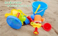 Cheap Beach Sand Play Water Outdoor Fun Toy 13pcs Set Kids Seaside Excavating Tools Enclosed Spade Shovel Hourglass Paddle WA0064