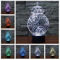 Wholesale New D Bulbing Night Light Star Wars Death Star Millennium Falcon LED Lighting Gadget Table Lamp Nightlight for Child Gift
