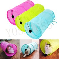Wholesale Cat Play Tunnel Pure Color Polyester Cloth Folding Tent Toy Cat Tunnel Supply Bright Colors Rabbit Play Tunnel