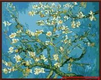 almond oils - Blossoming Almond Tree By Van Gogh Famous Works Oil Painting Printed on Canvas Mural Art Picture Home Living Room Wall Decor