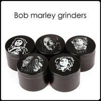 Wholesale 2016 Bob Marley Grinder Zinc Alloy Herb Grinders Layers mm Herbal Grinders Metal Grinders Tobacco Grinders SharpStone Grinders