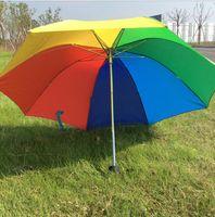 aluminum tube manufacturers - New fashoin manufacturers spot custom bone three folding sunshade rainbow umbrella advertising umbrella insurance logo