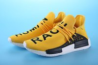 ad flat - Casual shoes Pharrell Williams X AD NMD HUMAN RACE SHOES COOL STOCK DROP SHIP Summer Shoes New Fashion running shoes with original box