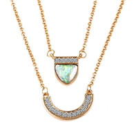 pendant natural jade - 2016 Newest Kendra Scott Women s Elisa Necklace Gold Crystal Natural Stone Pendant Necklace For Women Jade Jewelry