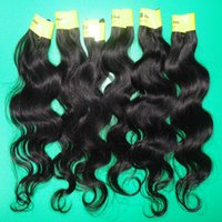 Wholesale 5pcs cheapest unprocessed Peruvian hair extensions Natural color body wave bundles fast shipping DHL business days