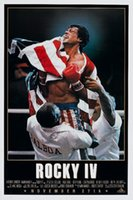Wholesale abric purse American Sylvester Stallone sports film rocky balboa IV movie poster Print Waterproof Canvas Fabric Wall Decor Custom Pr