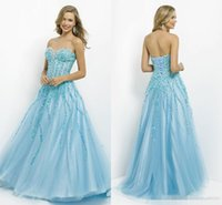 Wholesale Sweetheart Glitter Sequin Short Dress - 2016 Fashion Prom Dresses Sweetheart Glitter Luxury Beading Rhinestions Sequins Hot Purple And Ice Blue Lace-up Party Dress Evening Gowns