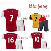 Wholesale Arsenal kids Soccer Jerseys kit WILSHERE OZIL WALCOTT RAMSEY ALEXIS home Away rd Top Thai kids Football shirts