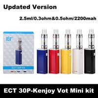 Cheap ECT 30P e cigarette Box Mod Starter Kit et 30p 2.5ml kenjoy vot mini Tank 0.3&0.5ohm 2200mah electronic cigarettes mod et30p heat-resistant