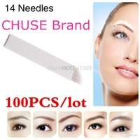 Wholesale Famous Brand CHUSE S14 Permanent Makeup Blade Manual Eyebrow Tattoo Blades Needles