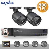 Wholesale SANNCE CH H HDMI DVR TVL Outdoor IR CUT Cameras CCTV Security System