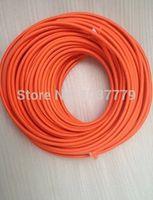 Wholesale meters Orange color cloth covered silicon copper cable copper wire for pendant lamps
