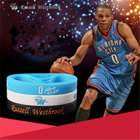 Wholesale Russell Westbrook Silicone Bracelet Basketball Wristband Silicone Sport Bracelet pulseiras bracelets bangles Westbrook NO BY dhl