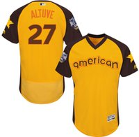 astros star - 2016 Baseball All Star Houston Astros Jose Altuve American Yellow Flexbase Jerseys Embroidery Stitched Logo Price