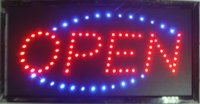 animate run - direct selling custom led screen signs X19 inch semi outdoor Animated Running led open sign