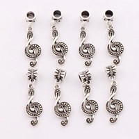 antique music - 2016 Antique Silver G Treble Clef Music Note Charm Beads Fit European Bracelets Jewelry DIY x11 mm B1629
