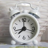 Wholesale Brand New Fashion Lovely Cartoon Dial Number Round Desk Alarm Clock Pc FG04058