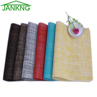 bar table designs - JANKNG Linen Design PVC Placemat Dining Table Mats Bar Mat Kitchen Accessories Dining Bowl Plate Pad Table Decoration
