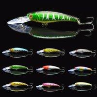 bass fly rods - 10pcs crank fishing lure kosadaka fit yo zuri rod wobbler minnow fly boat rock deep spinner bait bass pike arbalete hook C158