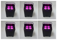 Wholesale led battery operated DJ light bar rgbawuv x18w wireless dmx remote control mini slim par uplight