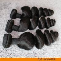Extensiones de Malasia armadura del pelo, grado 9A haces de pelo, suelta la onda 5pcs / lot del color natural puede ser teñido, envío libre