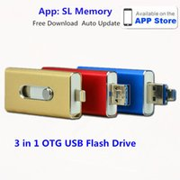 Wholesale OTG USB Flash Drives Memory Stick OTG USB Disk for iPhone s Android PC OTG Pendrive Multifunction Micro USB Stick