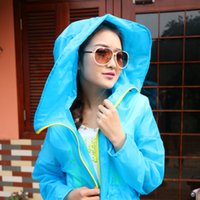 Wholesale ladies summer sun protection clothing long sleeve hooded candy colored clothing sunscreen clothing female outdoor anti sai