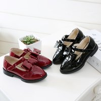 beautiful dance shoes - Dance Red Childrens Casual Shoes with Black Girls Shoes with Pointed Toe Design Beautiful Flower Shape