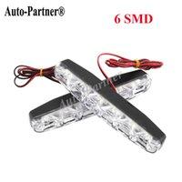 Cheap 2PCS Universal 6 SMD LED Daytime Driving Running Light DRL Car Fog Lamp Waterproof White DC 12V Hot Selling