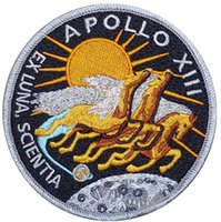 apollo patches - 3 quot Apollo XIII EX LUNA SCIENTIA Crew Movie TV Series Costume Embroidered Emblem iron on patch Badge party favor