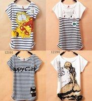 [Magic] 2013 New T Shirt Las mujeres de las camisetas de las mujeres tipo suelta camisetas manga corta de envío libre Las camisetas de las mujeres impresas 40 modelos
