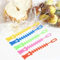 Wholesale 2016 new Fishbone Design Eco friendly Silica gel Sealing Clip Food bag Bands Worldwide store