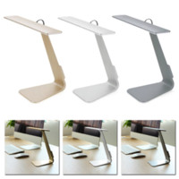 Wholesale New Ultra thin W LED Dimming Touch Reading Table Lamp USB Rechargable Switch Desk Light C RT