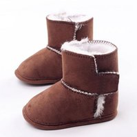 air walker boots - 2016 Winter Newborn Baby Warm First Walkers Snow Boots Candy Color Infant Boys Girls Anti Slippery Toddler Shoe