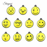 handmade craft - Smile Face Charms Pendants for DIY Bracelet Enamel Floating Locket Charms for Locket Necklaces Jewelry Making Handmade Craft mm