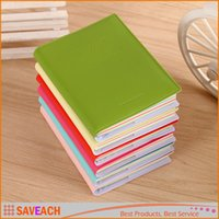 Wholesale Mini Pocket Notebooks cm x cm quot x quot PU Leather Shell sheets Steno Notepad Memo Scratch Pads