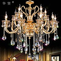 Wholesale Jane crystal lighting lamp modern dining room luxurious atmosphere Hotel penthouse floor villa European lighting lighting engineering