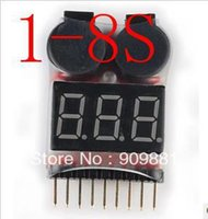 Wholesale 1 S BB Lipo Li ion Fe RC Helicopter Airplane Boat Battery Voltage IN1 Tester Low Voltage Buzzer Alarm