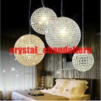 Wholesale new Crystal Round ball Chandeliers LED lighting Indoor Lighting Ceiling Lights Pendant lamp