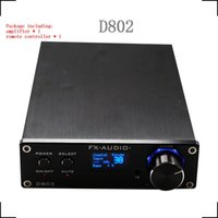 Wholesale FX Audio Digtial D802 Remote Control USB Optical Fiber Coaxial Input Home Audio Hifi Pure Digital Amplifier KHz W OLED Display